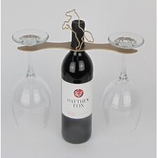 Laser Cut Steel Stall 1 Bottle Tabletop Wine Glass Rack