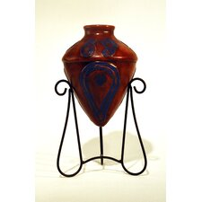 Southwest Paisley Kashmir Amphora Decorative Urn with Stand