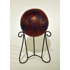 Southwest Paisley Kashmir Sphere Decorative Urn with Stand