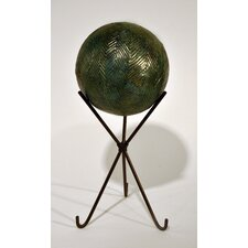 Herringbone Sphere Statue with Stand
