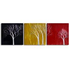 'Seasons Pass' 3 Piece Original Painting Plaque Set