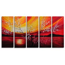Looking Out To Sea 5 Piece Painting Print on Canvas Set