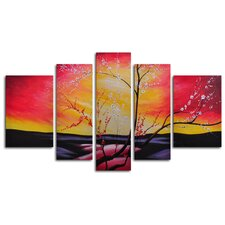 The Great Beyond 5 Piece Painting Print on Wrapped Canvas Set