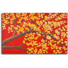 Luminous Cherry Blossom Original Painting on Wrapped Canvas