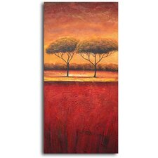 Slice of African Treescape Original Painting on Wrapped Canvas