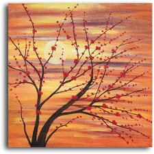Red Bud Rhythm Original Painting on Wrapped Canvas