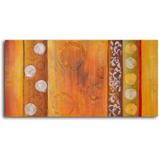 Embossed Gold Bubbles Original Painting on Wrapped Canvas