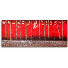 'Silver Red Tree Feet' Original Painting on Wrapped Canvas