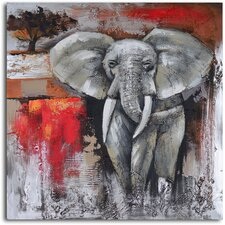 'Elephant Encounter' Original Painting on Wrapped Canvas
