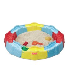 N Play Build-a-Box 3' Round Sandbox with Cover
