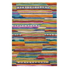 Jubilee Periwinkle Striped Area Rug