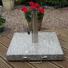 Granite Parasol Base with Wheels