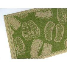 Flip Flops Emerald Indoor/Outdoor Area Rug