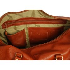 "24"" Leather Carry-On Duffel with Side Pockets"