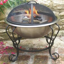 Stainless Steel Wood & Charcoal Fire Pit
