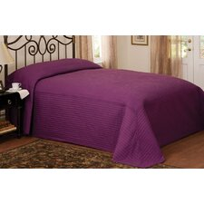 French Tile Twin Bedspread in Plum