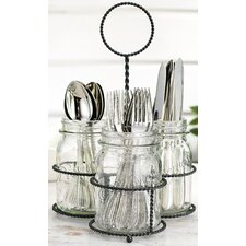 Del Sol Mason Jar Flatware Caddy