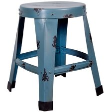 Antique Medium Metal Stool