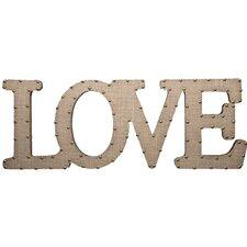 Burlap Script Love Wall Decor