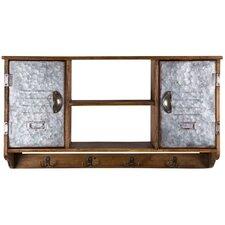 Wood Wall Storage with Shelf