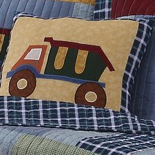 Construction Cotton Throw Pillow