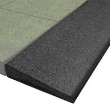 """PlayFall 2.50"""" x 40"""" Playground Safety Surfacing Bevel Edge Border in Black (Set of 4)"""