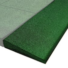 """PlayFall 2.50"""" x 40"""" Playground Safety Surfacing Bevel Edge Border in Green (Set of 4)"""