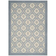 Hinsdale Light Sky Blue Abstract Area Rug