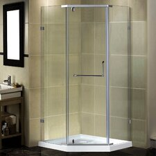 "36"" x 36"" x 77.5"" Semi-Frameless Neo-Angle Shower Enclosure with Low-Profile Base"