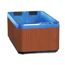 3-Person 32-Jet Hot Tub Spa with Lounger