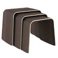 Minimal Bend 3 Piece Nesting Table Set