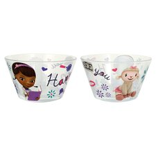 Disney Doc McStuffins 22 oz. Glass Bowl (Set of 6)