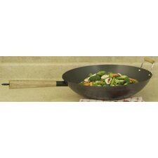 "Professional 14"" Non-Stick Carbon Steel Wok Set"