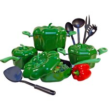 Bell Pepper Aluminum 13-Piece Cookware Set