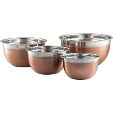 4 Piece Stainless Steel Mixing Bowl Set (Set of 4)