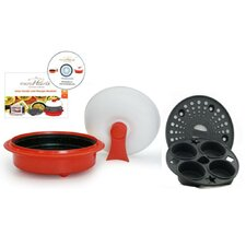 4-Piece 1.5 Qt. Microwave Cookware Everyday Pan Set