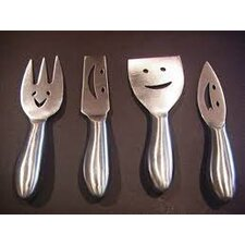 4 Piece Stainless Steel Cheese Knives Set