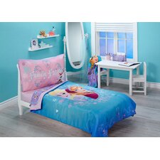 Frozen Magical Sister 4 Piece Toddler Bedding Set