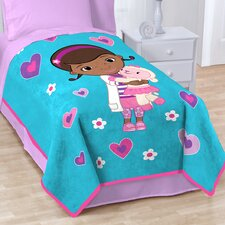 Doc Mcstuffins Caring Fleece Throw Blanket