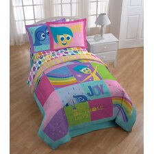 Inside Out Rainbow Patchwork Twin Comforter