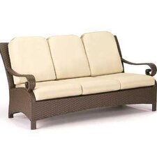 Carlton Wicker Sofa with Cushions