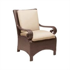Carlton Wicker Dining Arm Chair with Cushion