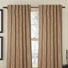 Mesmerize Burlap Rod Pocket Single Drape Panel