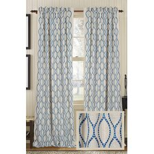 Illuminate Burlap Rod Pocket Drape Single Curtain Panel