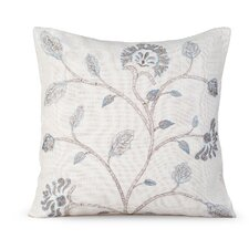 Foliage Burlap Throw Pillow