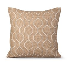 Pyramid Burlap Throw Pillow