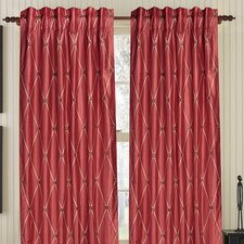 Diamond Impulse Silk Rod Pocket Single Drape Panel