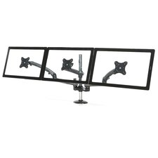 Spring Arm Height Adjustable 3 Screen Desk Mount