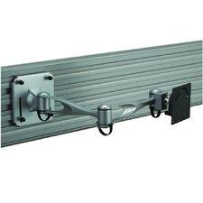 Slatwall Double Extending Arm/Tilt/Swivel Mount for LCD
