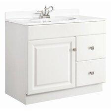 """Wyndham 37"""" Single Door Bathroom Vanity Set"""